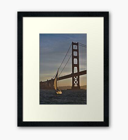 Golden Gate Sailing... Framed Print