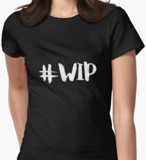 #WIP (white on black) Women's Fitted T-Shirt