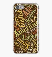 Beer Lovers Word Cloud  iPhone Case/Skin
