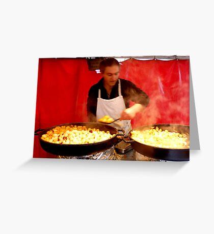 Potatoes cook Greeting Card
