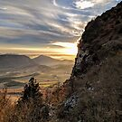 Sunset and mountains in Drôme, France. by opheliaautumn