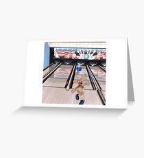 Charlie is Bowling Greeting Card