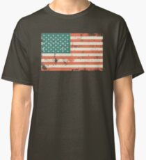 Grungy US flag Classic T-Shirt