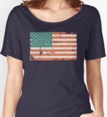 Grungy US flag Women's Relaxed Fit T-Shirt