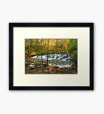 Corbetts Glen, Postcard Falls Framed Print