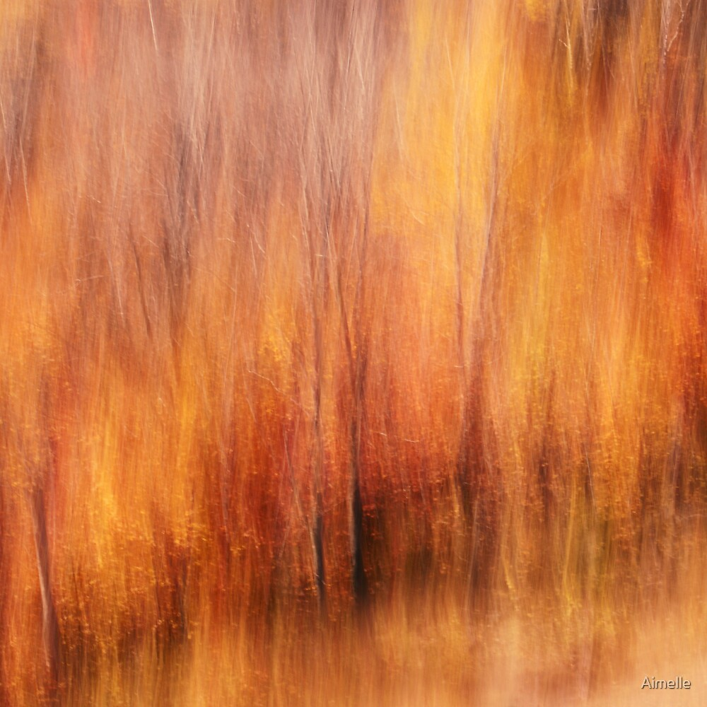 impressionist autumn canvas by Aimelle