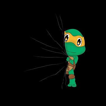HIDDEN TMNT michelangelo ! by Melroune