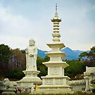 Statues at Donghwasa temple by NicoleBPhotos