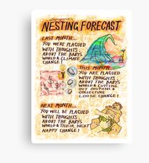 Pregnancy: Nesting Forecast Canvas Print