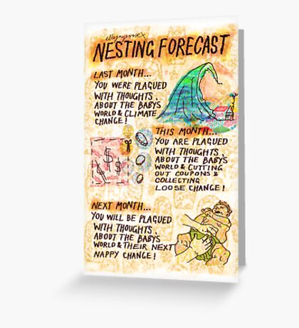 Pregnancy: Nesting Forecast Greeting Card