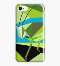 Low poly - Cricket on the meadow  iPhone Case/Skin