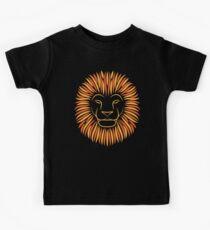 Orange Lion Kids T-Shirt