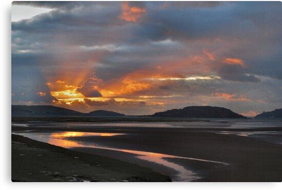 Sunset Portmeirion Estuary by Alison Frost