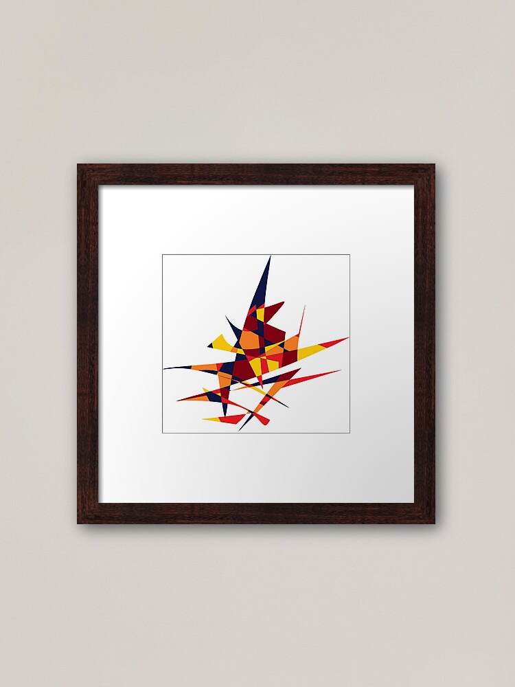 Alternate view of Wizard's Hat, Abstract (Designed by Just Stories) Framed Art Print