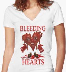 Bleeding Hearts Women's Fitted V-Neck T-Shirt