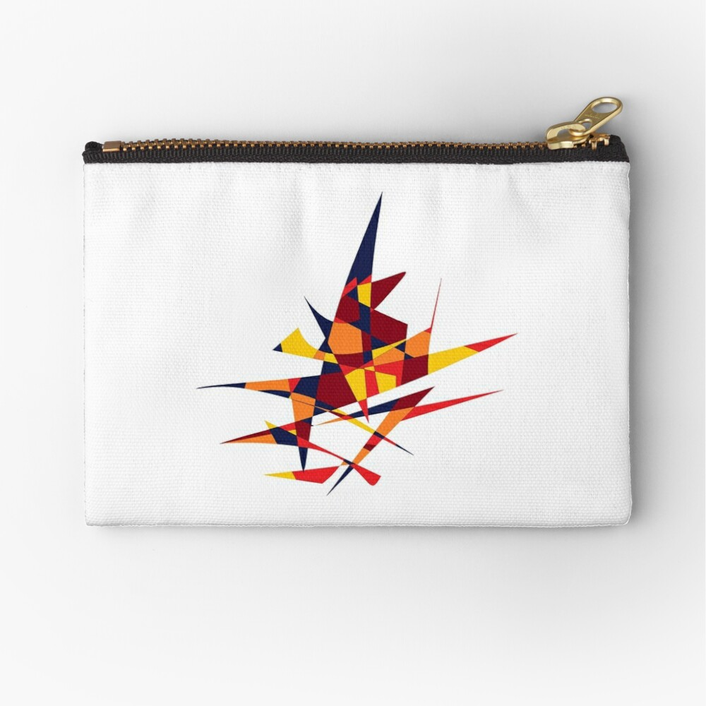 Wizard's Hat, Abstract (Designed by Just Stories) Zipper Pouch