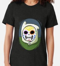 Come along with me... (sugar skull finn the human) Tri-blend T-Shirt