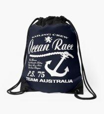 Ocean race sailing crew Drawstring Bag