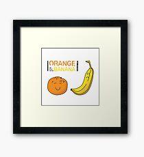 Orange is the new Banana Framed Print