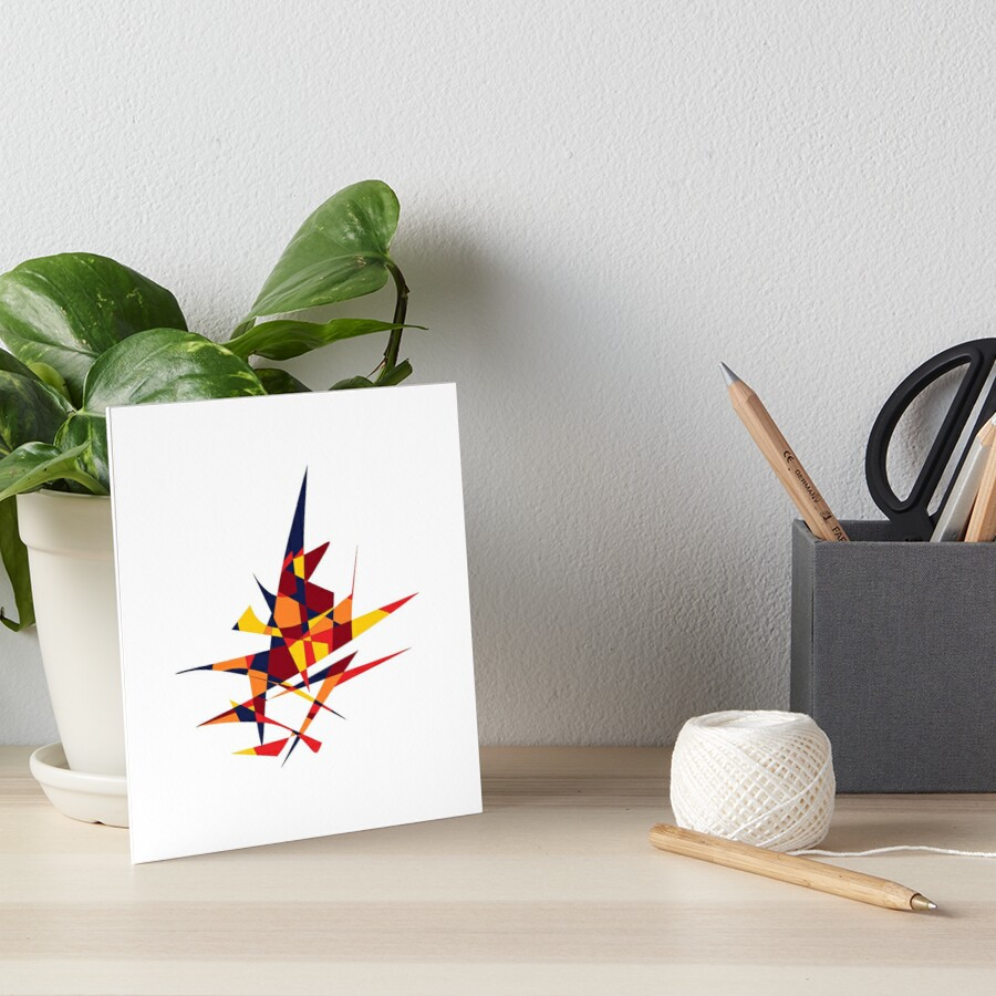 Wizard's Hat, Abstract (Designed by Just Stories) Art Board Print