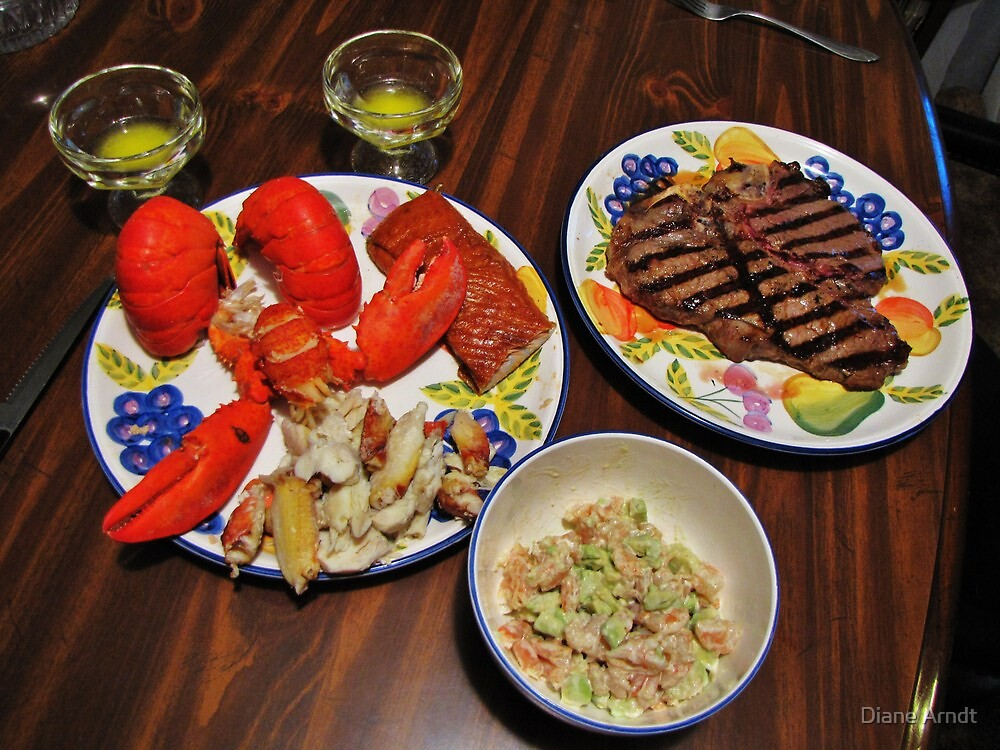 George Cooked Valentines Dinner by Diane Arndt