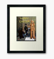 The Scream World Tour  street art Happy Easter Framed Print