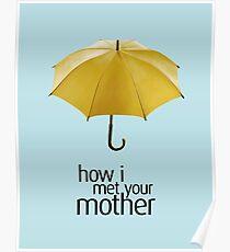 Yellow Umbrella. How I Met Your Mother. Poster