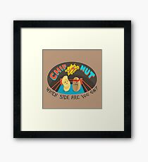 Potato chip VS Peanut Framed Print