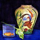 still life with fish by agnès trachet
