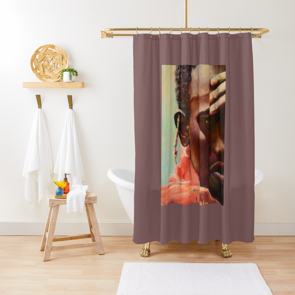 Dignity - African Maasai Shower Curtain