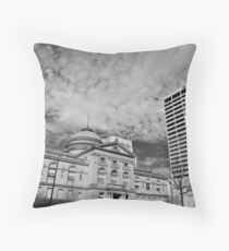The County Courthouse Throw Pillow