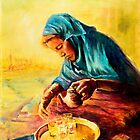 African Chai Tea Lady by Sher Nasser