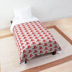 Playstation Logo Red Comforter