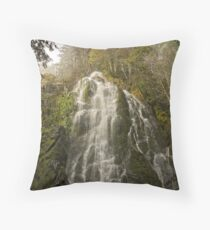 Snowy Day at Moon Falls   Throw Pillow