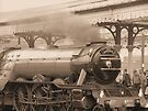 Flying Scotsman -Sepia by Audrey Clarke