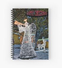 Happy Christmas Angel Spiral Notebook
