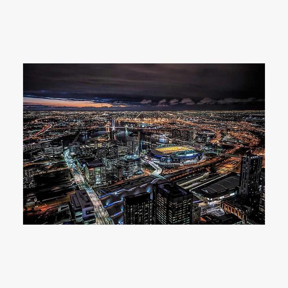 Melbourne at Night (fine colour marker) Photographic Print