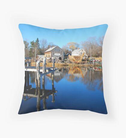 Essex Ship Yard - Essex, Massachusetts Throw Pillow