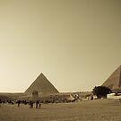 Pyramids in Giza, Cairo by NicoleBPhotos