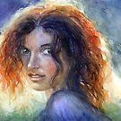 Woman in a sun portrait Svetlana Novikova by Svetlana  Novikova