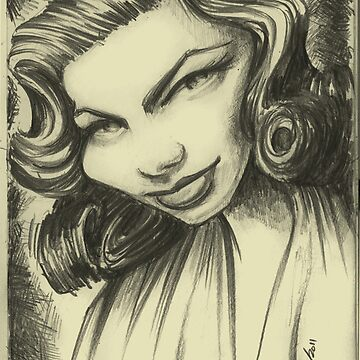 lauren bacall by mfsart