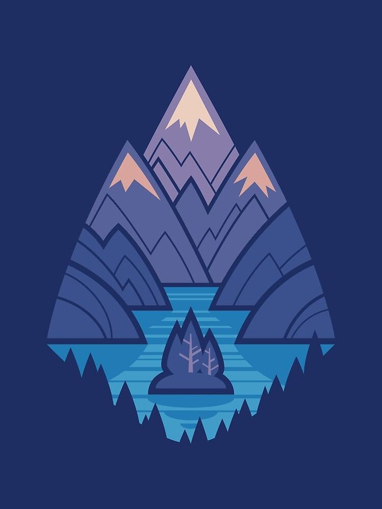Mountain Lake : Dark Blue by Waynem79