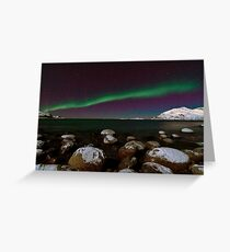 Aurora Borealis at the arctic shore II Greeting Card