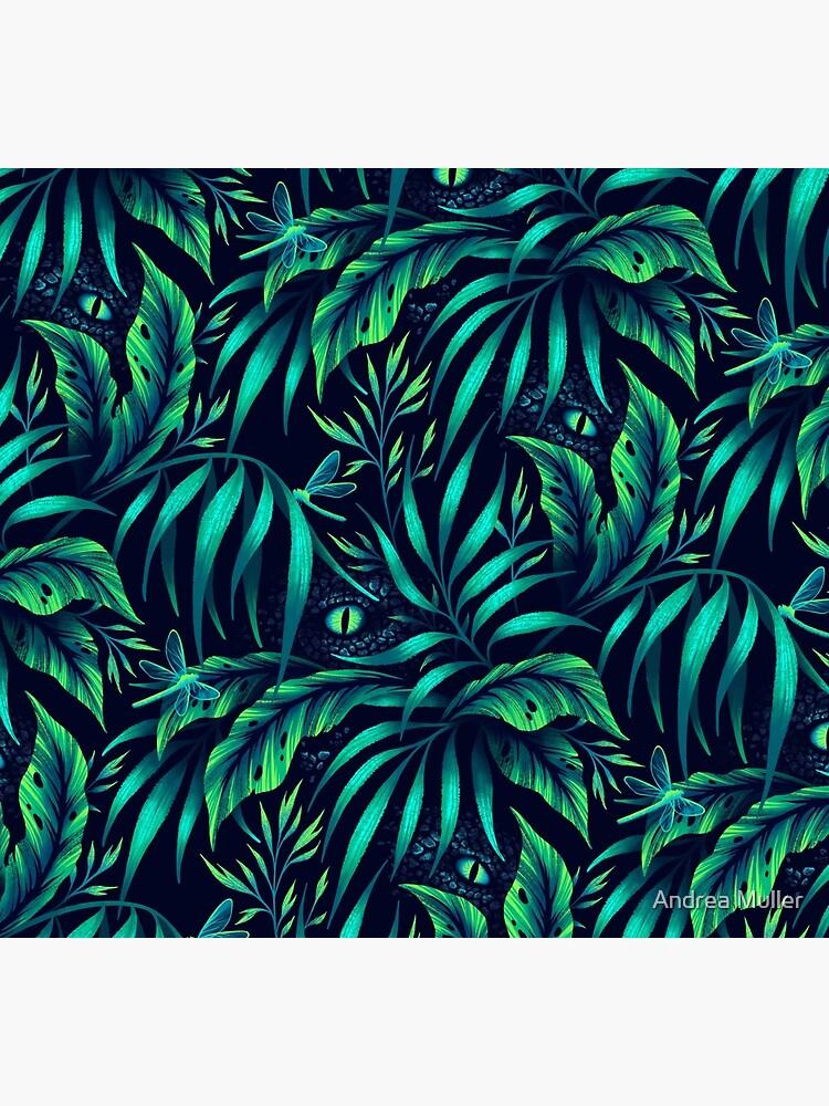 Jurassic Jungle - Emerald Green by andreaalice