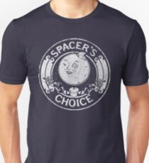 Spacer's Choice Distressed White Logo | The Outer Worlds Logo Slim Fit T-Shirt