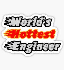 World's Hottest Engineer Sticker
