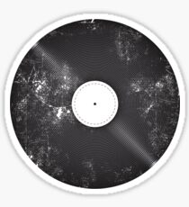 Scratched Record Sticker