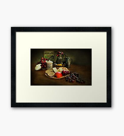 Cheese and Crackers.! Framed Print