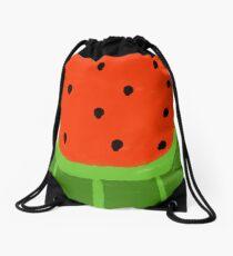 Watermelon Sliced Drawstring Bag