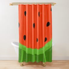 Watermelon Sliced Shower Curtain